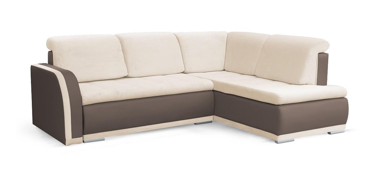 Rohová sedací souprava Rohová sedačka rozkládací Erik pravý roh (korpus - cayenne 1122)