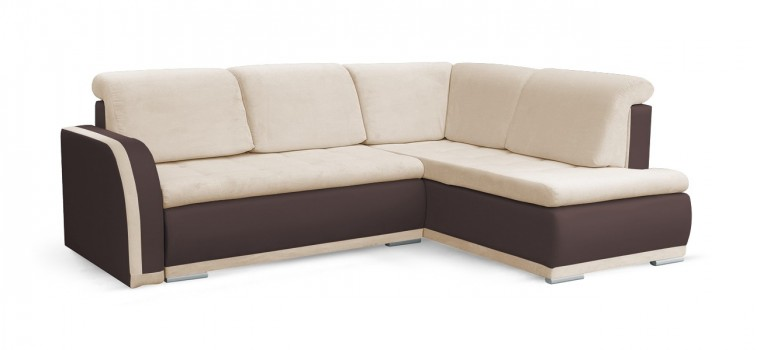 Rohová sedací souprava Rohová sedačka rozkládací Erik pravý roh (korpus - soft 66)