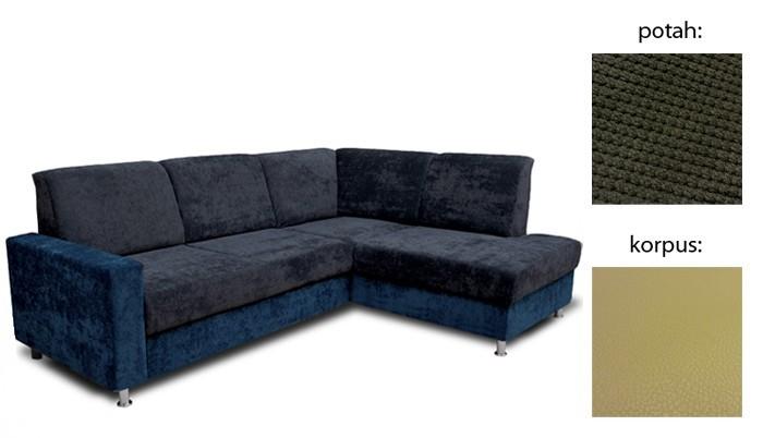 Rohová sedací souprava Rohová sedačka rozkládací Fantazy pravý roh (cross94/giovanni3)