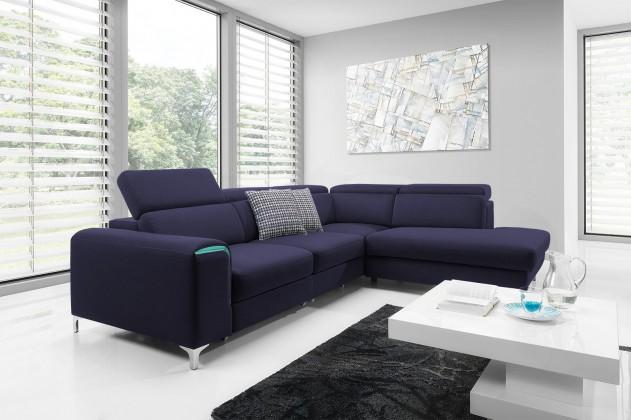 Rohová sedací souprava Rohová sedačka rozkládací Genova roh pravý (ste563/ste561,modrá)