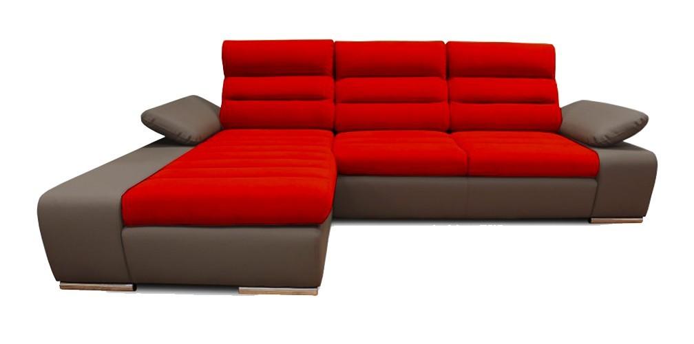 Rohová sedací souprava Rohová sedačka rozkládací Korfu levý roh (togo 5/novara 235)