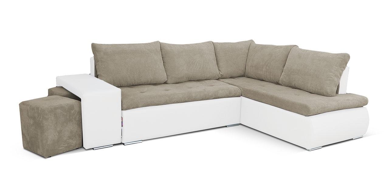 Rohová sedací souprava Rohová sedačka rozkládací Kris pravý roh (korpus - soft 17)