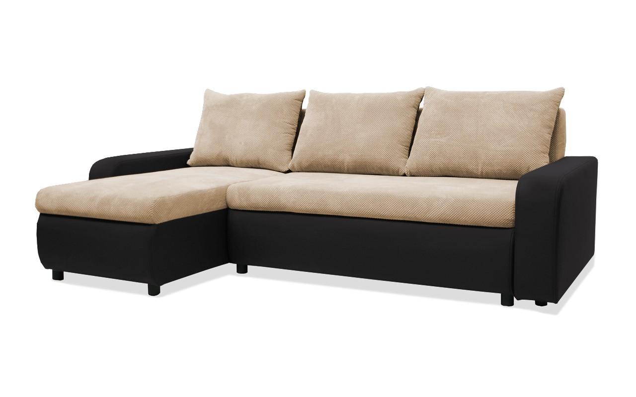 Rohová sedací souprava Rohová sedačka rozkládací Linz levý roh (korpus-bella 15,látka)
