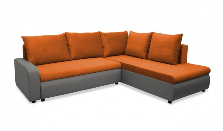 Rohová sedací souprava Rohová sedačka rozkládací Linz pravá (korpus-bella 14, látka)