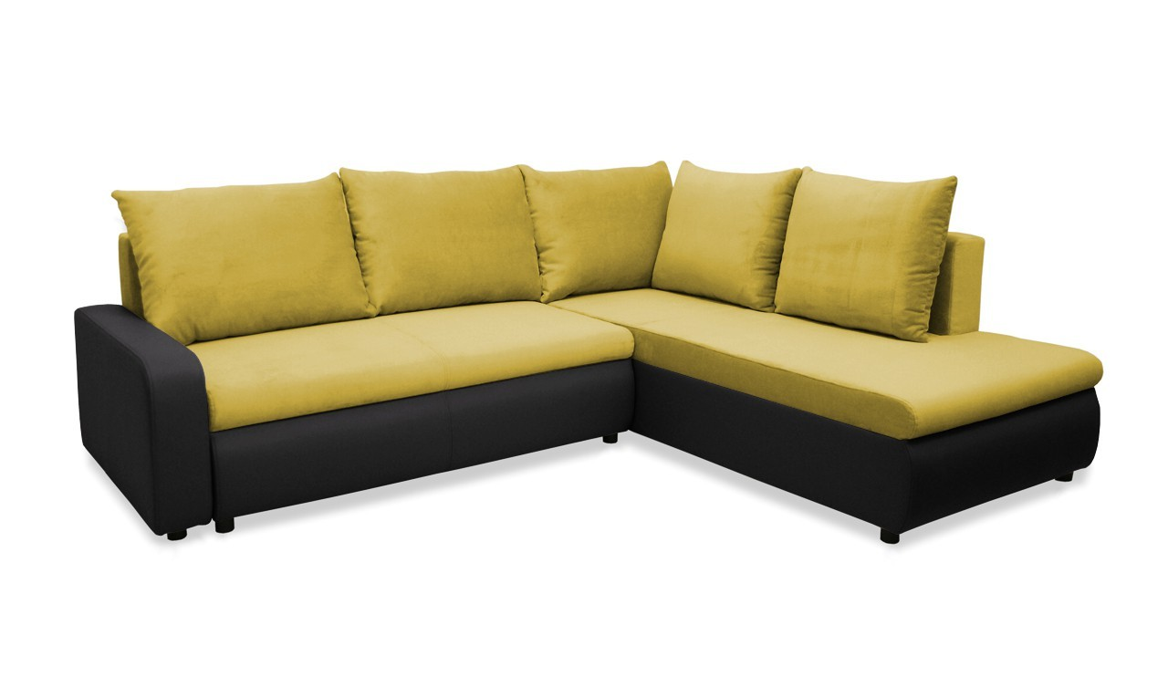 Rohová sedací souprava Rohová sedačka rozkládací Linz pravá (korpus-bella 15, látka)