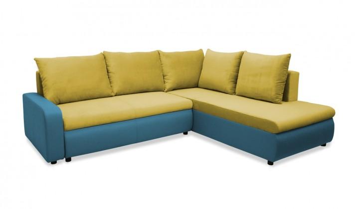Rohová sedací souprava Rohová sedačka rozkládací Linz pravá (korpus-bella 8, látka)