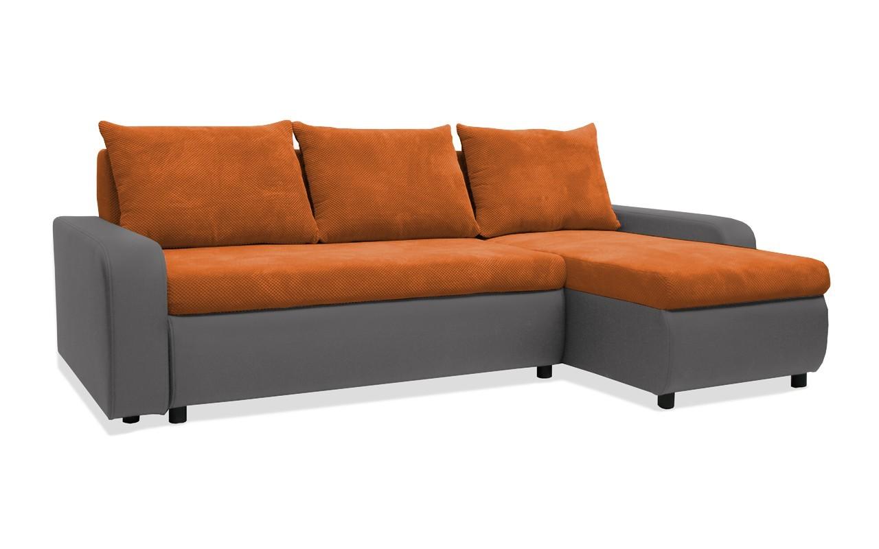 Rohová sedací souprava Rohová sedačka rozkládací Linz pravý roh (korpus-bella 14,látka)