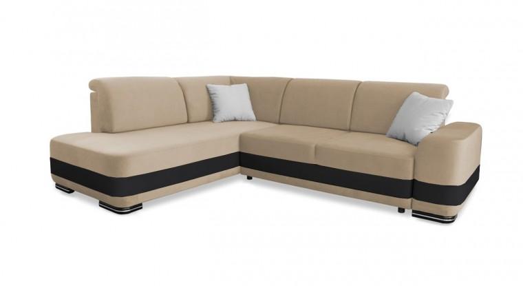 Rohová sedací souprava Rohová sedačka rozkládací Logan levý roh (bella 1)