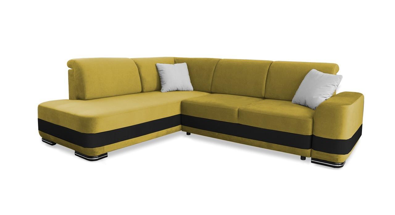 Rohová sedací souprava Rohová sedačka rozkládací Logan levý roh (bella 5)