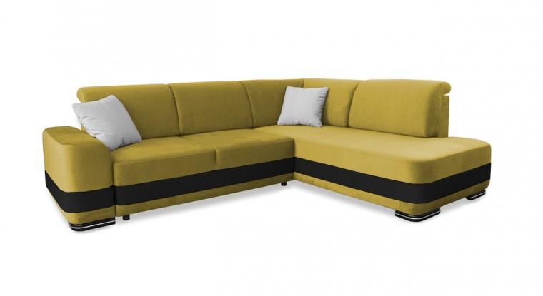 Rohová sedací souprava Rohová sedačka rozkládací Logan pravý roh (bella 5)