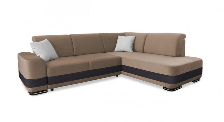 Rohová sedací souprava Rohová sedačka rozkládací Logan pravý roh (casablanca 2303)