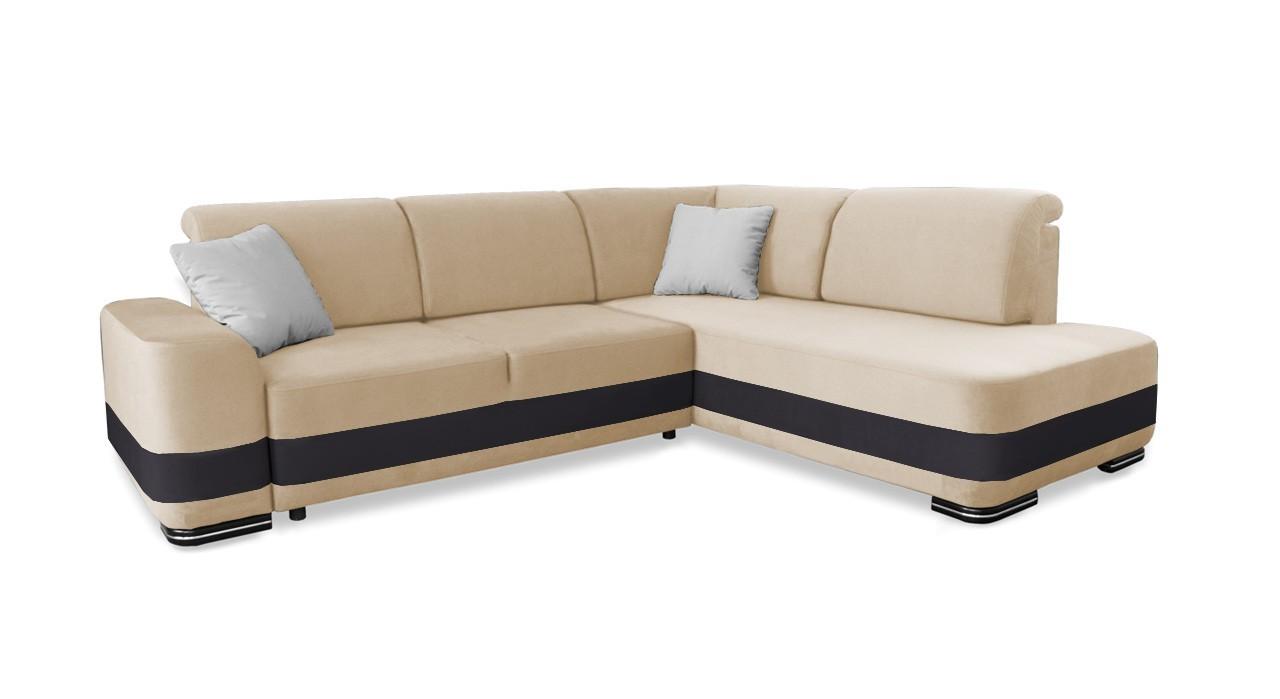 Rohová sedací souprava Rohová sedačka rozkládací Logan pravý roh (doti 21)