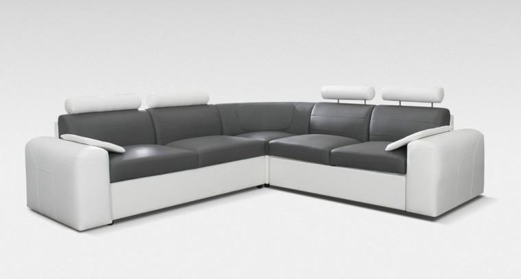 Rohová sedací souprava Rohová sedačka rozkládací Mega-XL levá (cayenne 1115, eko kůže)