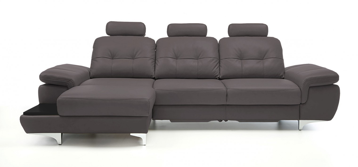 Rohová sedací souprava Rohová sedačka rozkládací Move levý roh, 3xP (černá/eko kůže)