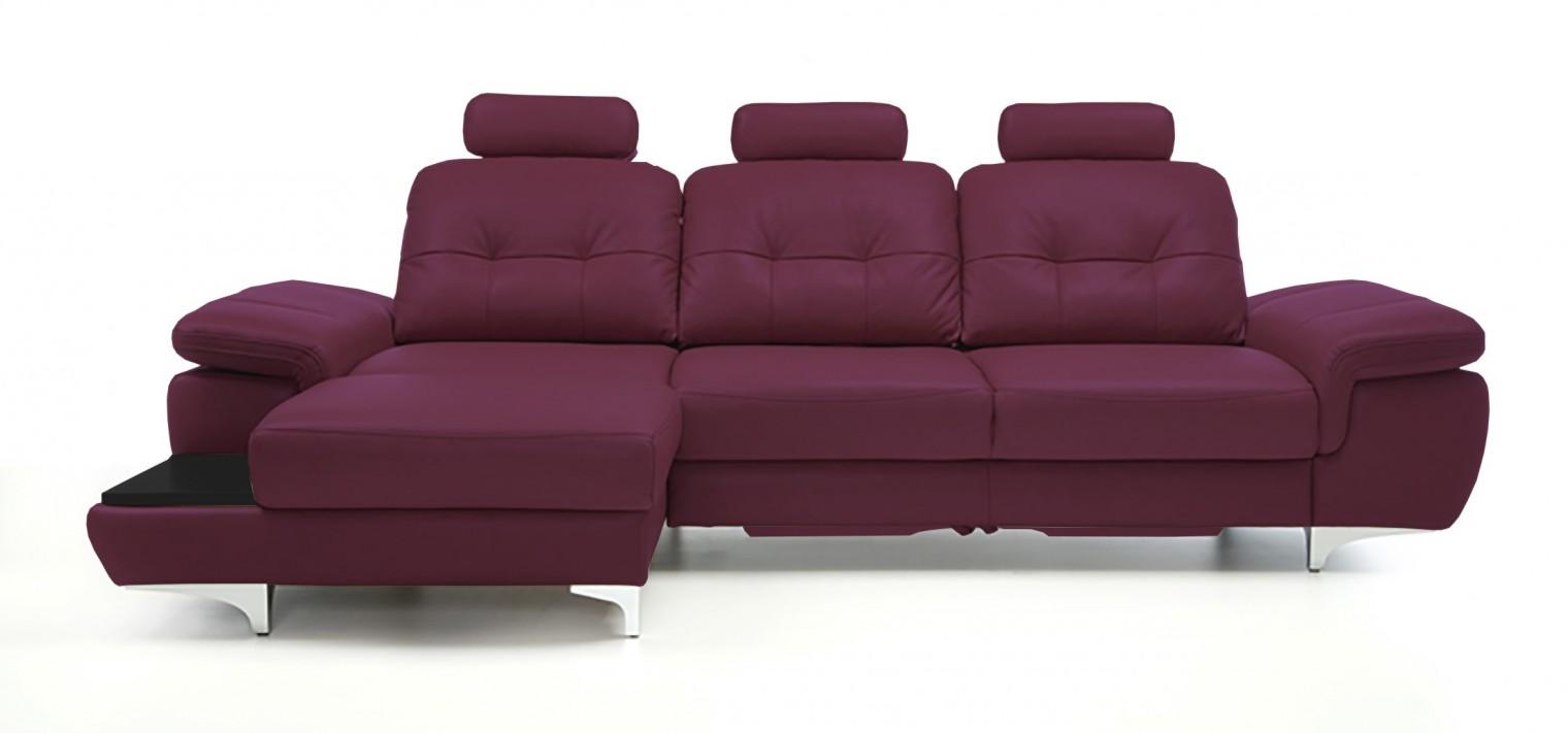 Rohová sedací souprava Rohová sedačka rozkládací Move levý roh, 3xP (černá/kůže)
