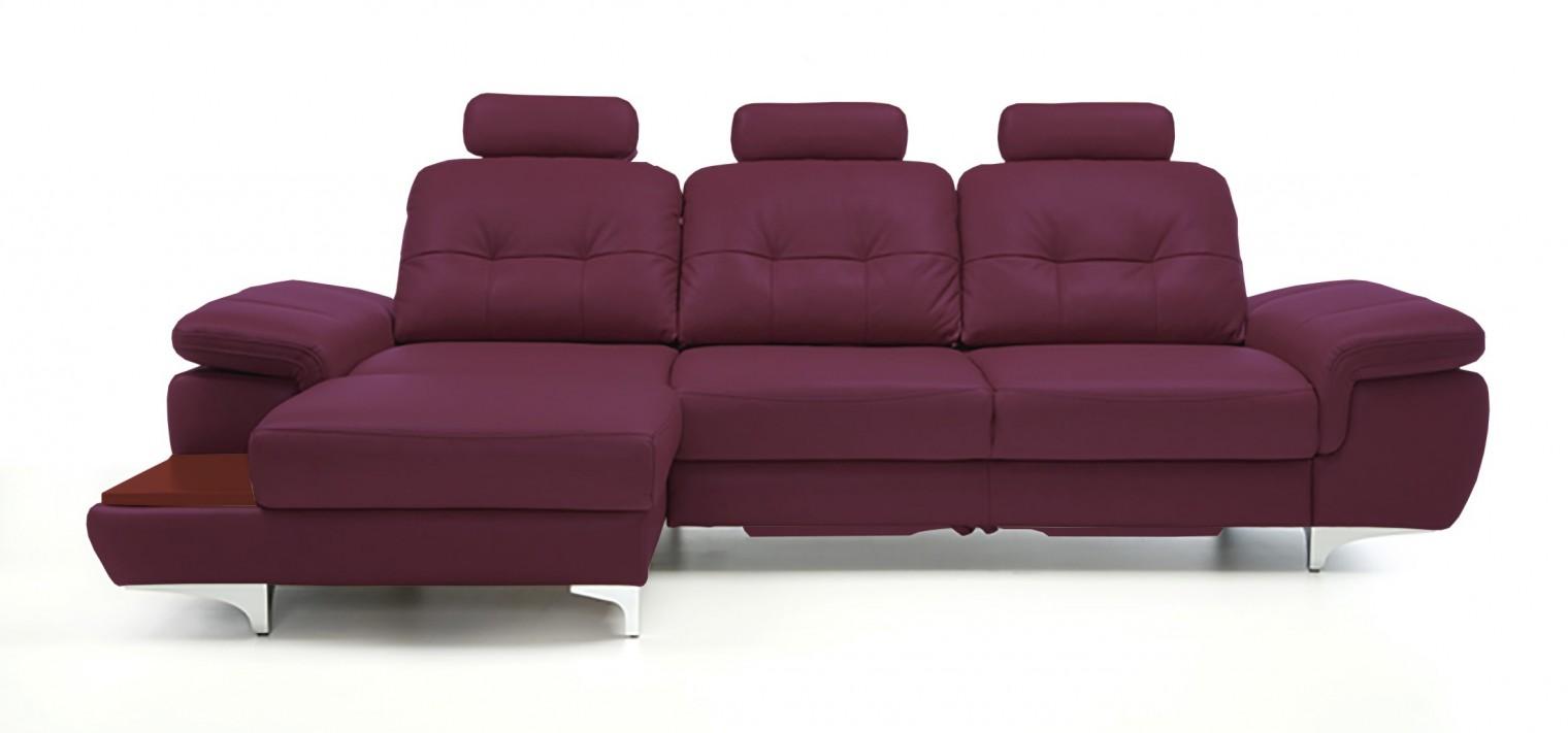 Rohová sedací souprava Rohová sedačka rozkládací Move levý roh, 3xP (mahagon/kůže)