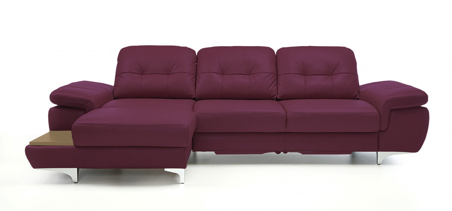 Rohová sedací souprava Rohová sedačka rozkládací Move levý roh (dub/kůže)