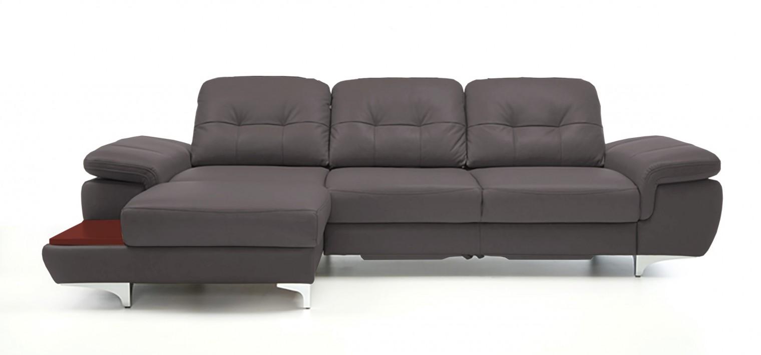 Rohová sedací souprava Rohová sedačka rozkládací Move levý roh (mahagon/eko kůže)