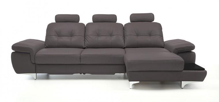 Rohová sedací souprava Rohová sedačka rozkládací Move pravý roh, 3xP (černá/eko kůže)