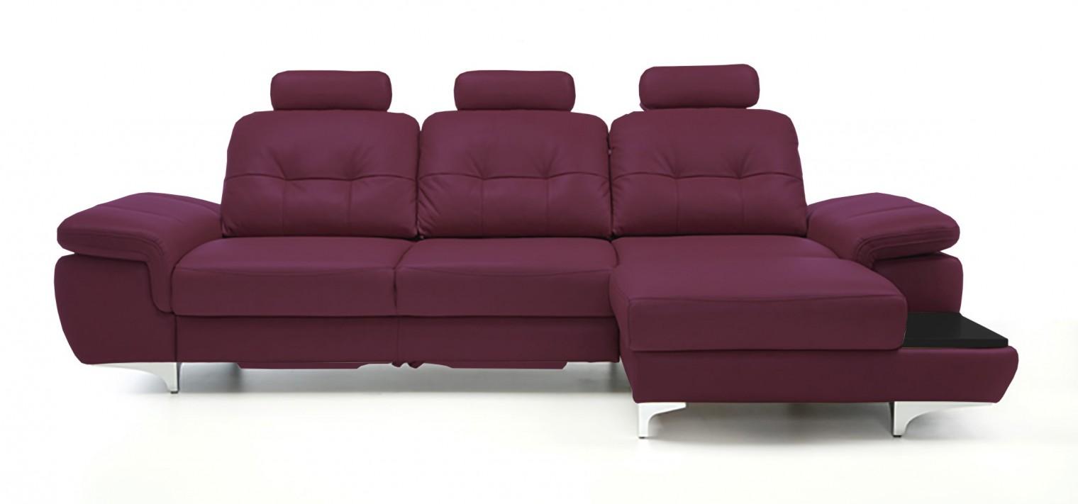 Rohová sedací souprava Rohová sedačka rozkládací Move pravý roh, 3xP (černá/kůže)