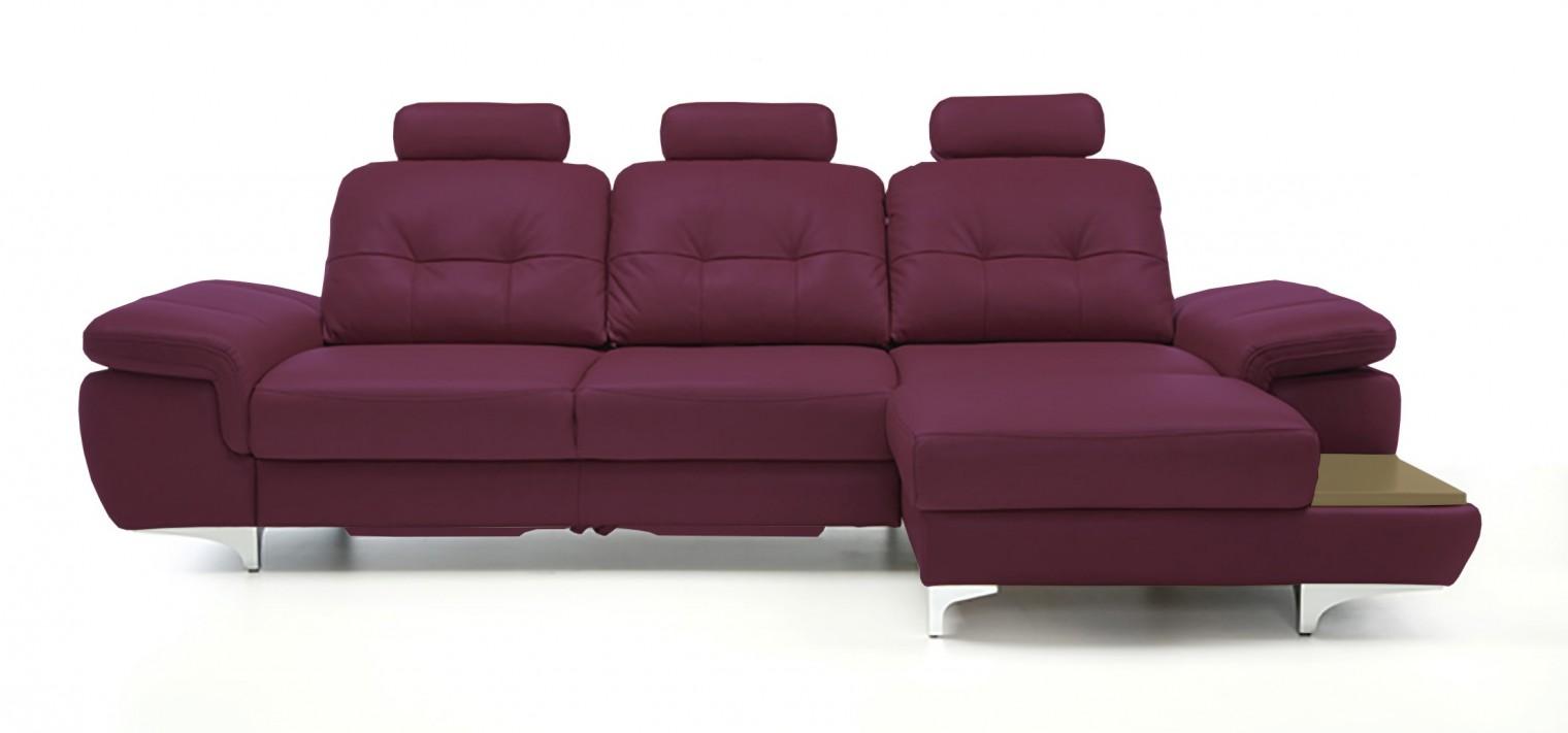 Rohová sedací souprava Rohová sedačka rozkládací Move pravý roh, 3xP (dub/kůže)