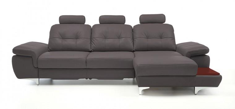 Rohová sedací souprava Rohová sedačka rozkládací Move pravý roh, 3xP (mahagon/eko kůže)