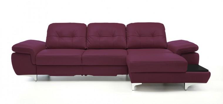 Rohová sedací souprava Rohová sedačka rozkládací Move pravý roh (černá/kůže)