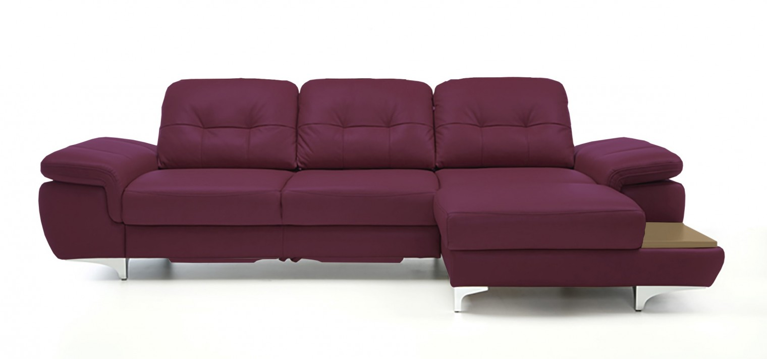 Rohová sedací souprava Rohová sedačka rozkládací Move pravý roh (dub/kůže)