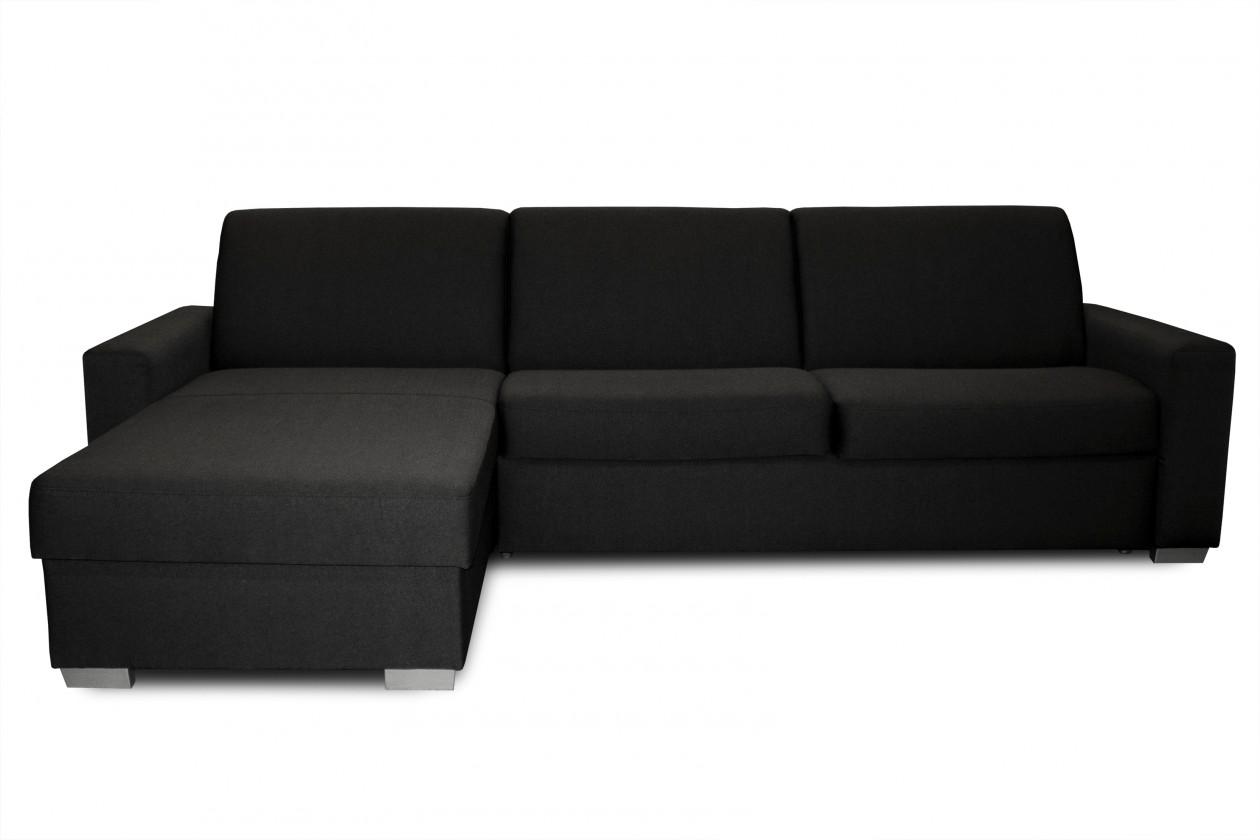 Rohová sedací souprava Rohová sedačka rozkládací Nina levý roh ÚP černá