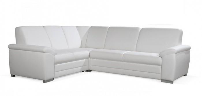 Rohová sedací souprava Rohová sedačka rozkládací Nuuk levý roh 2SBL+R+3FBP (eko kůže)