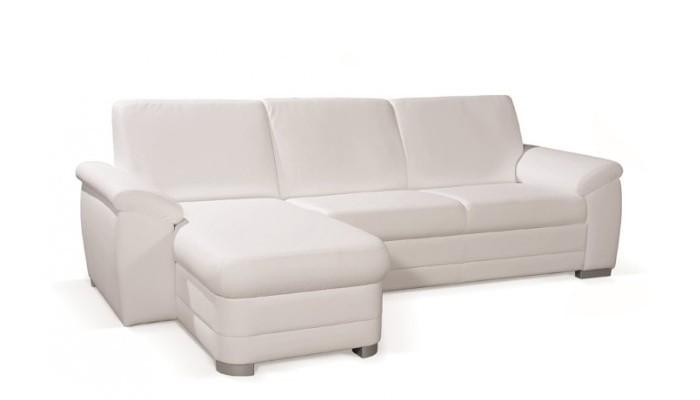 Rohová sedací souprava Rohová sedačka rozkládací Nuuk levý roh OSBL+3FBP (eko kůže)