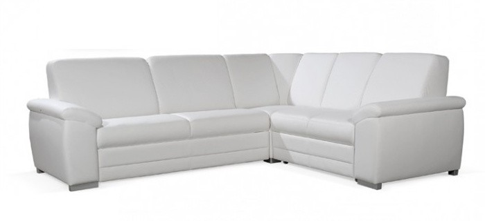 Rohová sedací souprava Rohová sedačka rozkládací Nuuk pravý roh 3FBL+R+2SBP (eko kůže)