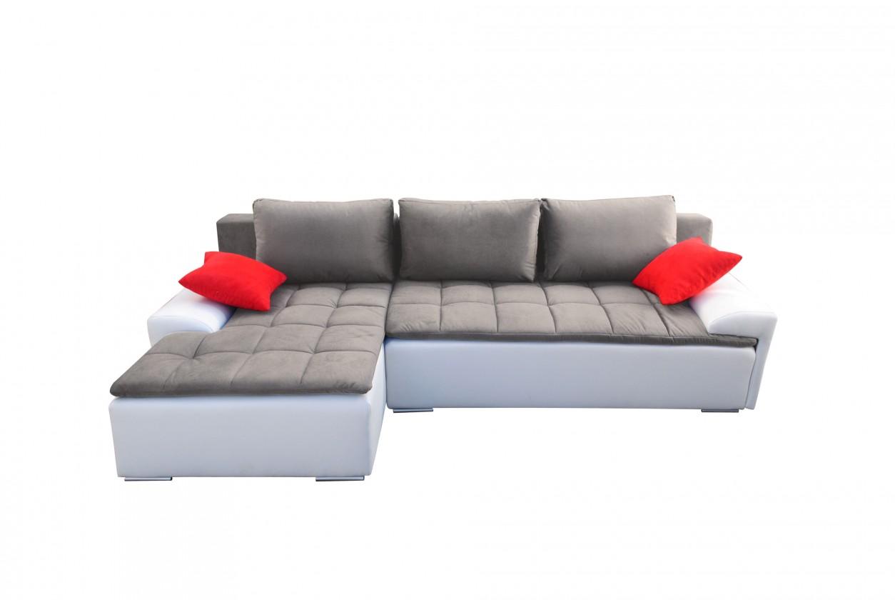 Rohová sedací souprava Rohová sedačka rozkládací Santa II levý roh (látka/eko kůže)