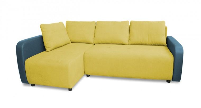 Rohová sedací souprava Rohová sedačka rozkládací Siena levý roh (korpus-bella 8, látka)