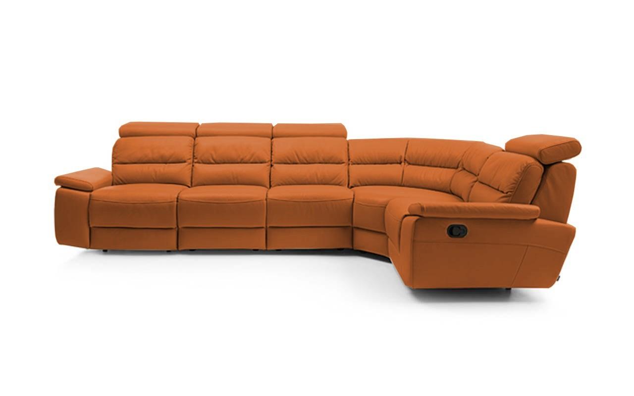 Rohová sedací souprava Rohová sedačka rozkládací Stella pravý roh (kůže)