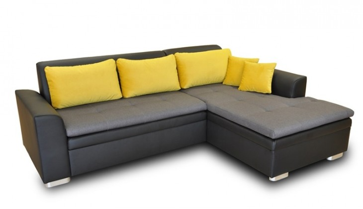 Rohová sedací souprava Rohová sedačka rozkládací Vanilla pravý roh (L35/M1100/T2329)