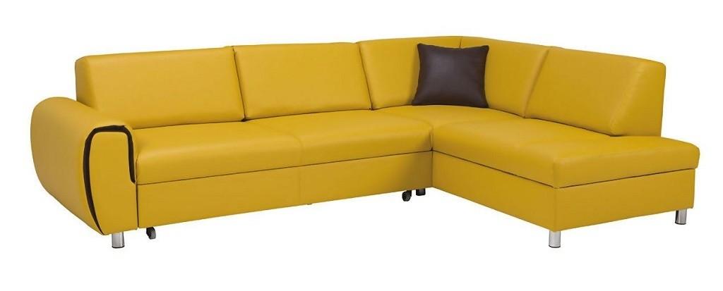 Rohová sedací souprava Rohová sedačka rozkládací Vigo pravý roh ÚP žlutá