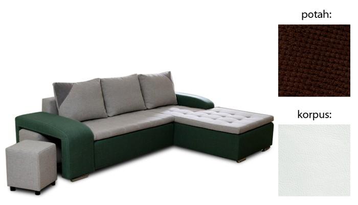 Rohová sedací souprava Sedací souprava Simple Plus (látka/eko kůže)