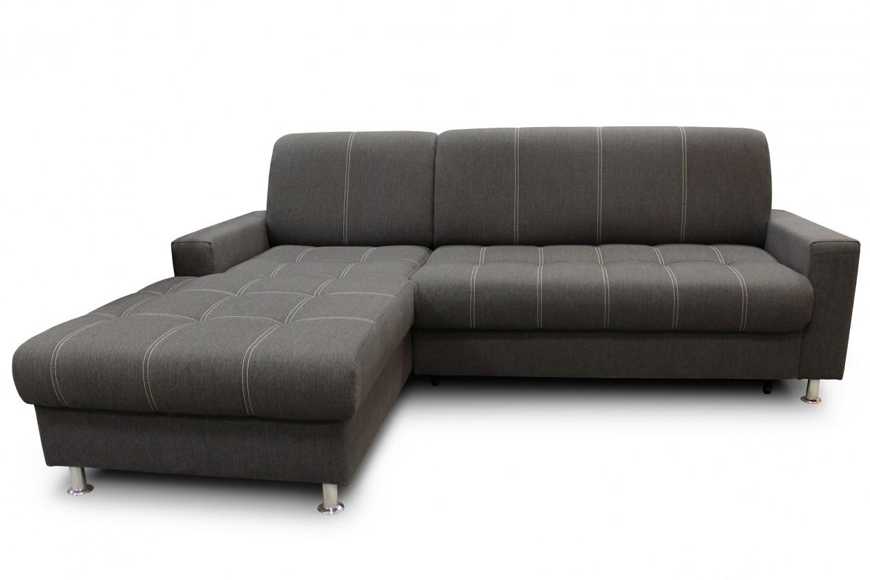 Rohová sedací souprava Simone - Roh levý (inari 96/prošití 2545 bílé)