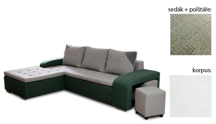 Rohová sedací souprava Simple plus - levý roh (inari 22 sk.3 sedák/giovanni 1 sk.3)