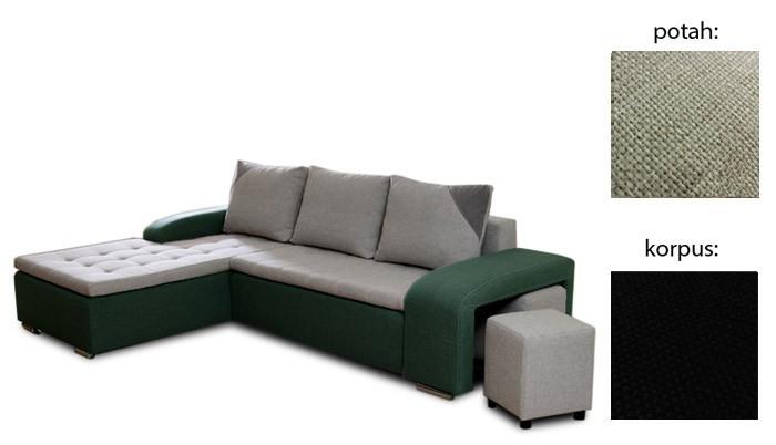 Rohová sedací souprava Simple plus - levý roh (inari 22 sk.3 sedák/inari 100 sk.3)