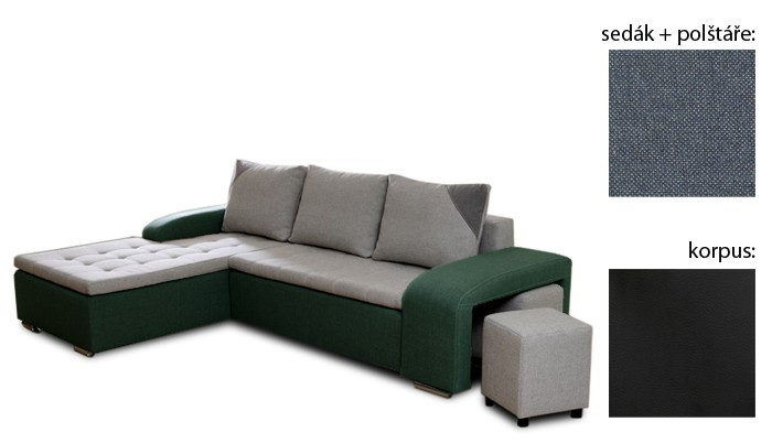 Rohová sedací souprava Simple plus - levý roh (inari 81 sk.3 sedák/giovanni 9 sk.3)