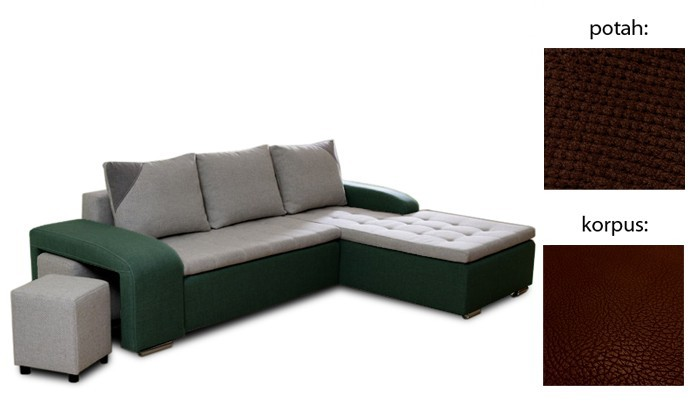 Rohová sedací souprava Simple plus - pravý roh (cross 25 sk.3 sedák/giovanni 6 sk.3)