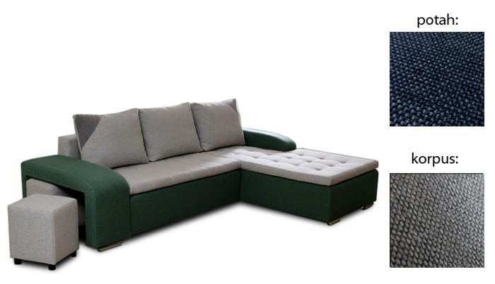 Rohová sedací souprava Simple plus - pravý roh (inari 80 sk.3 sedák/inari 91 sk.3)