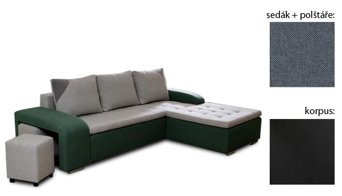 Rohová sedací souprava Simple plus - pravý roh (inari 81 sk.3/giovanni 9 sk.3/inari 81)