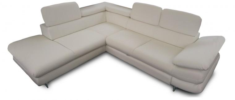 Rohová sedací souprava Solution - levý roh (SD200 Pulse white)