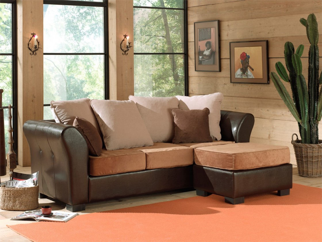 Rohová sedací souprava StarDubaj (bycast brown-korpus/dubaj13,dubaj07,dubaj21-polštáře)