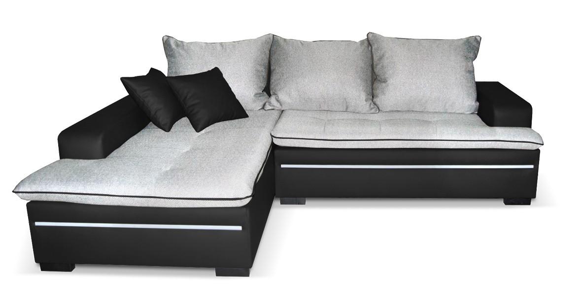 Rohová sedací souprava Volt - Roh levý,rozkl.,úl. pr.,LED (gonzales2901/soft11)