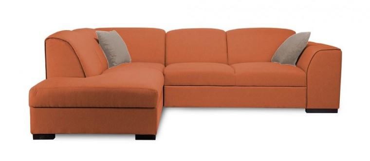 Rohová sedací souprava West - Roh levý (soro 51, sedák/baku 2, polštáře/soft 66)