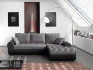Rohová sedačka Flash pravý roh (savana dark grey/pu black)
